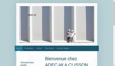 Site internet de Adec-W