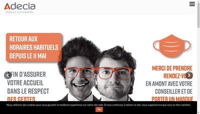 Site internet de Adecia Cholet