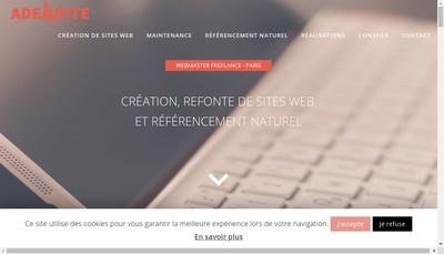 Site internet de Adekoite - Julien ZITOLI