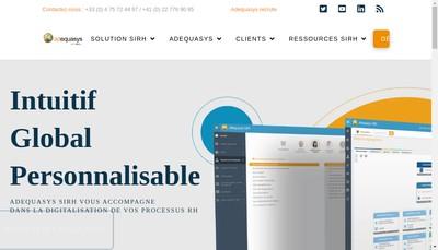 Site internet de Adequasys France et Ordifor