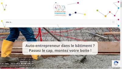 Site internet de A Deux et Plus - Entreprendre