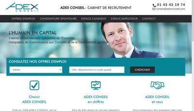Site internet de Adex Conseil