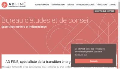 Site internet de Ad Fine