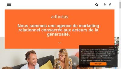 Site internet de Adfinitas