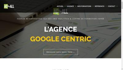 Site internet de Adforall