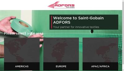 Site internet de Saint-Gobain Adfors France