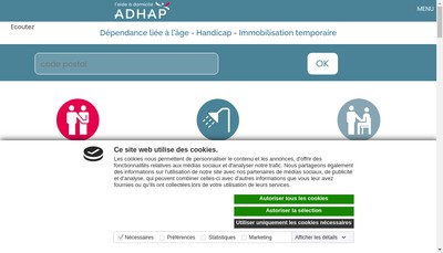 Site internet de Adhap Services