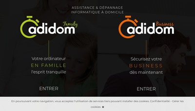 Site internet de Adidom