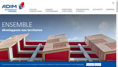 Site internet de Adim Est