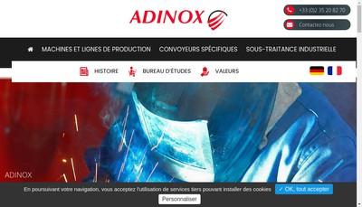 Site internet de Adinox Laser