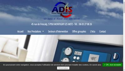 Site internet de Adis