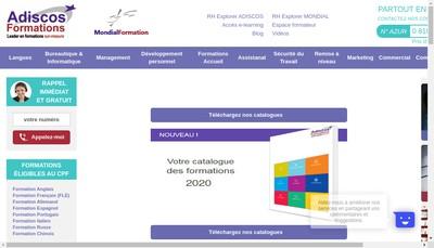 Site internet de Adiscos Adiscos Traduction Adisc Conseil