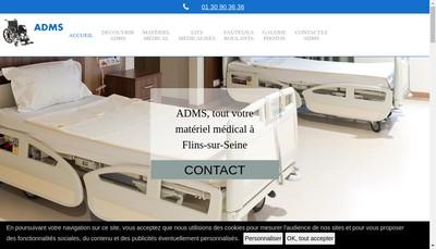 Site internet de Adms
