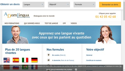 Site internet de Adomlingua