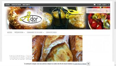 Site internet de Ador le Pain
