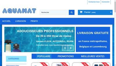 Site internet de Aquamat