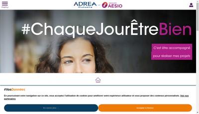 Site internet de Adrea Mutuelle