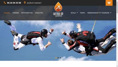 Site internet de Adrenalinexperience