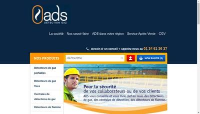 Site internet de Societe Analyse Detection Securite