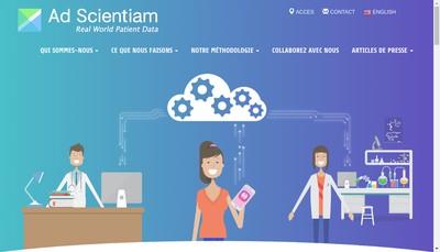 Site internet de Ad Scientiam