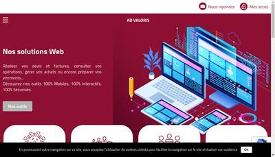Site internet de Ad Valoris Expertise et Conseil