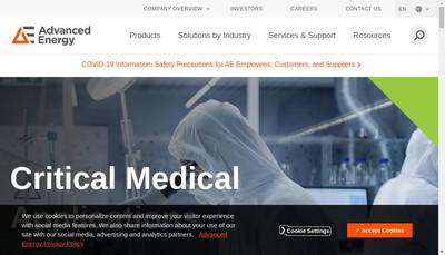 Site internet de Lumasense Technologies SARL