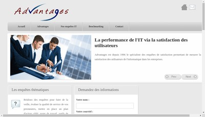 Site internet de Advantages