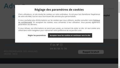 Site internet de Advao Conseil Rh - Advao