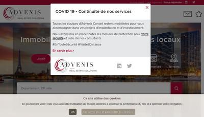 Site internet de Advenis Conseil