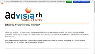 Site internet de Advisia RH