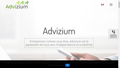Site internet de Advizium
