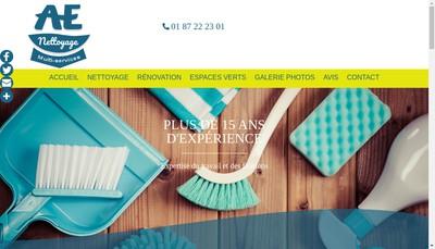 Site internet de AE Nettoyage