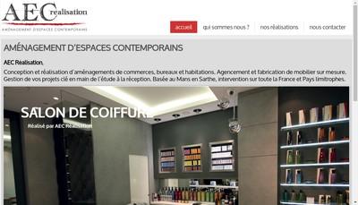 Site internet de AEC Realisation