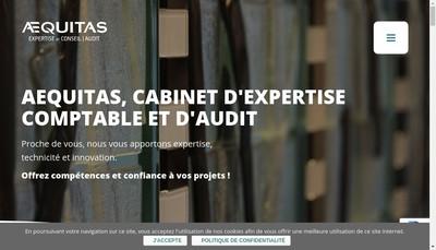 Site internet de Aequitas Audit -Societe de Commissariat aux Comptes