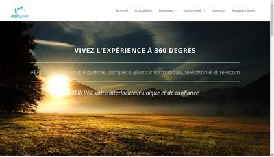 Site internet de Aerlink
