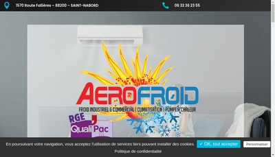 Site internet de Aerofroid