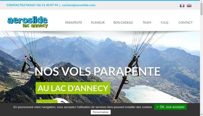 Site internet de Aeroslide