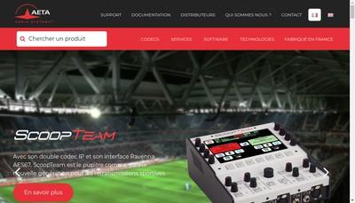 Site internet de Aeta Audio Systems