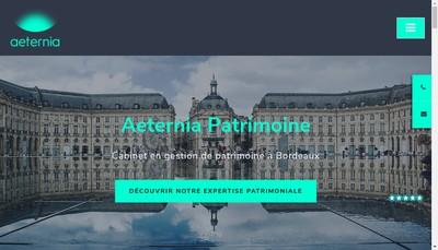 Site internet de AETERNIA PATRIMOINE