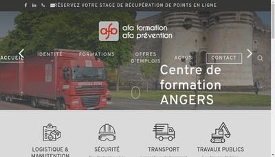 Site internet de Afa Formation