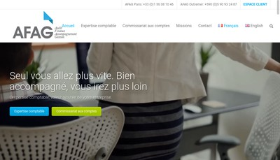 Site internet de Afag Paris