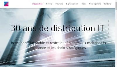 Site internet de Advanced France Composants