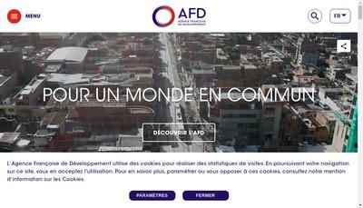 Site internet de Agence Francaise de Developpement