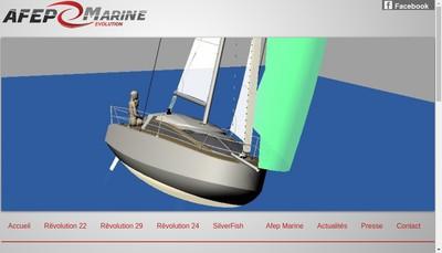Site internet de Afep Marine