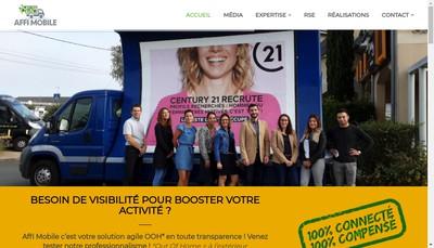 Site internet de Affi Mobile - Affi Mobile France