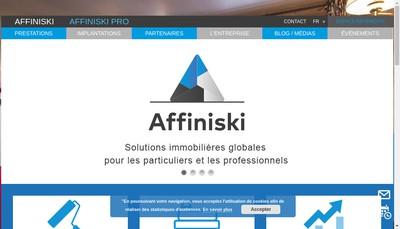 Site internet de Affiniski