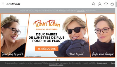 Site internet de L'Opticien Afflelou