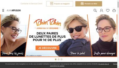 Site internet de Alain Afflelou