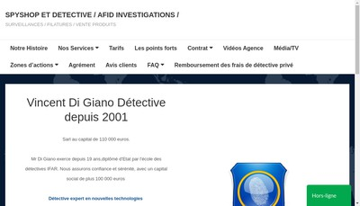 Site internet de Afid Investigations