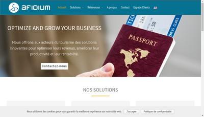 Site internet de Afidium